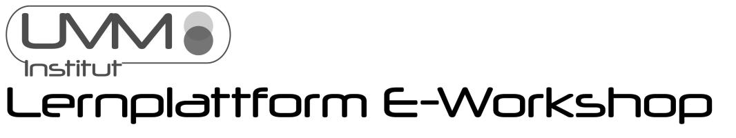 Moodle E-Workshop